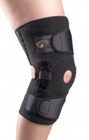 Бандаж с полицентрическими анатомическими шарнирами для сильной фиксации коленного сустава с регулируемым углом сгибания-разгибания К-1ПШ-2